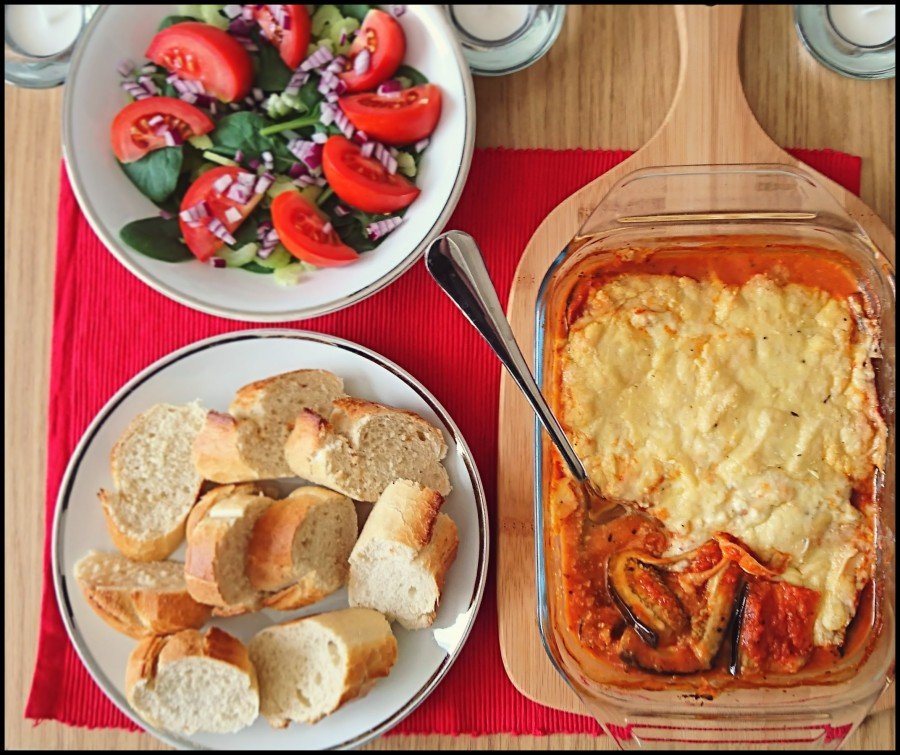 Cheese and Tomato Aubergine Bake