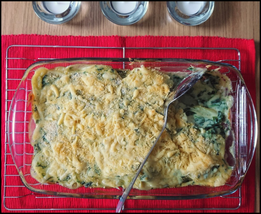 Creamy Spinach Potato Bake