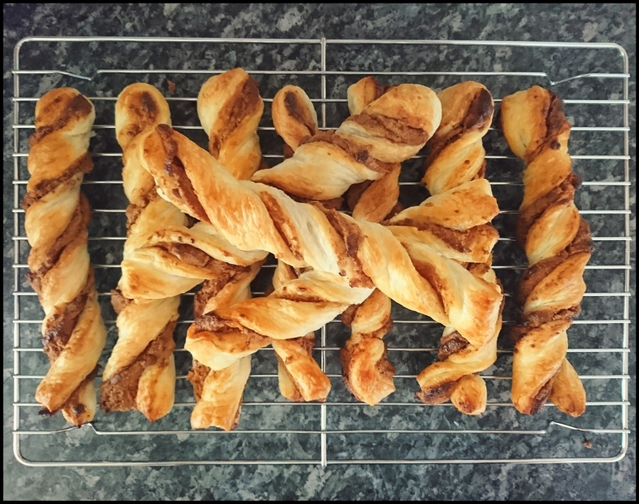 Biscoff & Chocolate Puff Pastry Twists