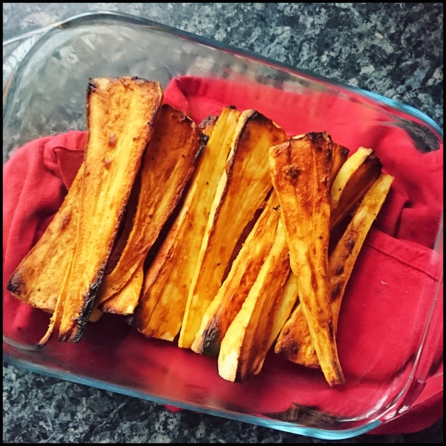 Maple & Mustard Roasted Parsnips