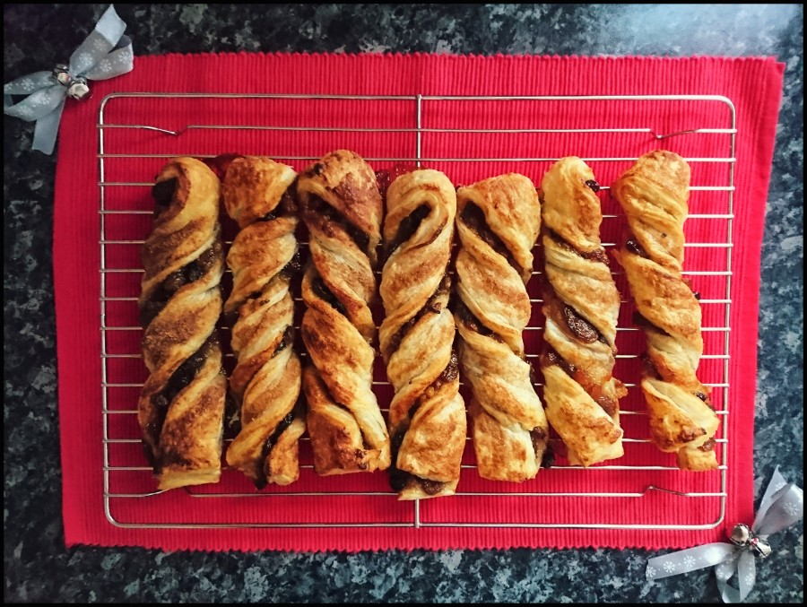 Mincemeat Puff Pastry Twists – With a Cinnamon Sugar Crust