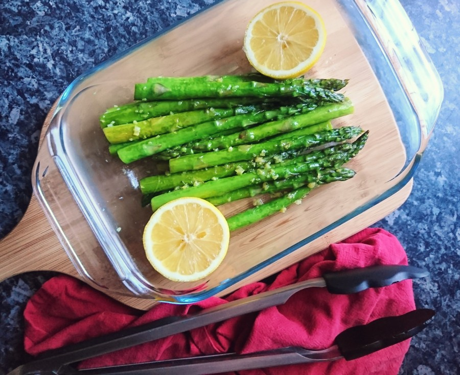 "Dairy Free Garlic ""Buttered"" Asparagus"