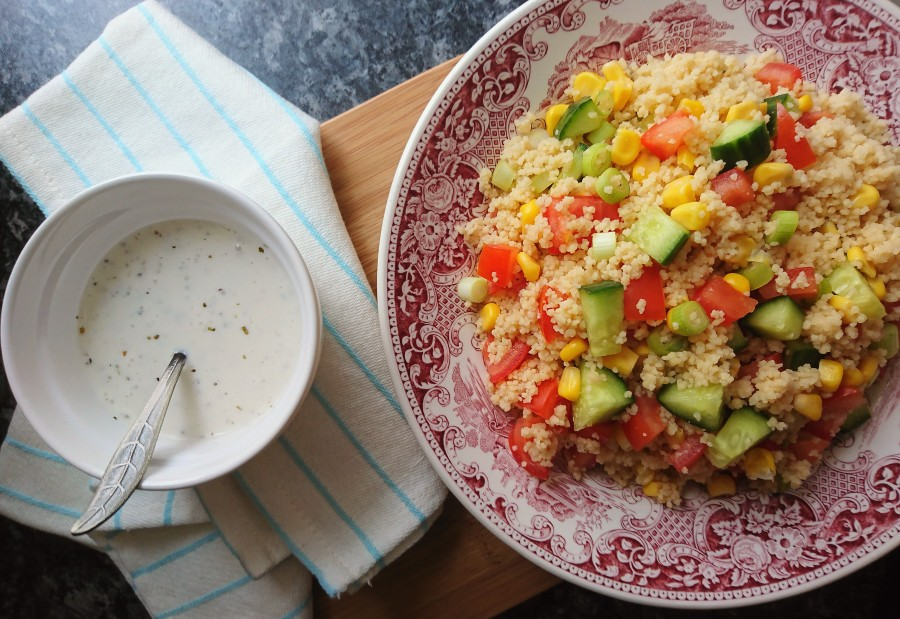 Simple Couscous Salad – with a creamy saladdressing