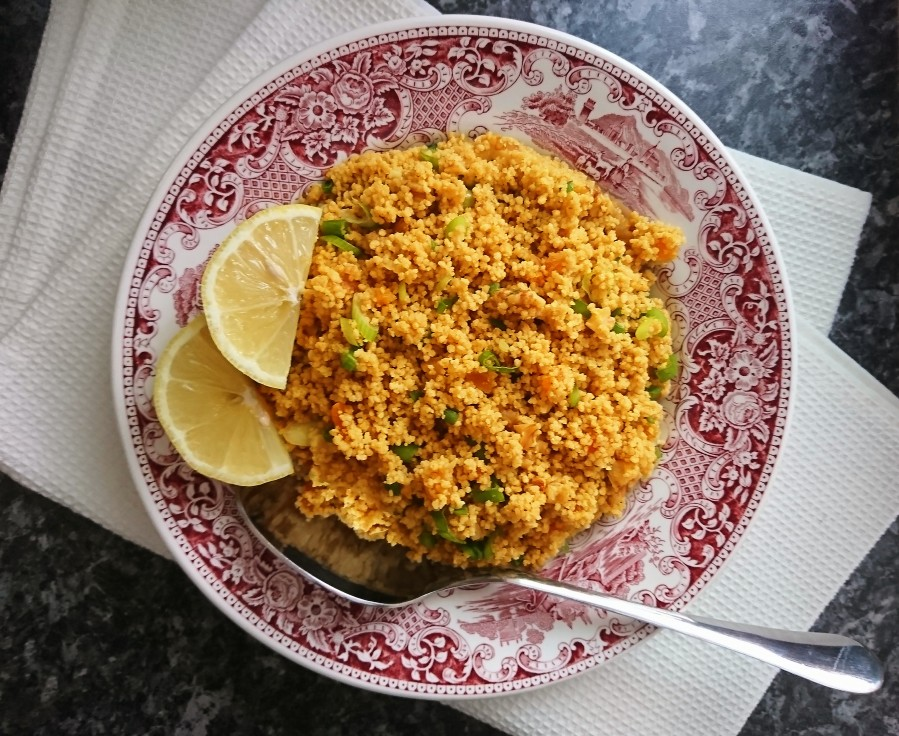 Dried Apricot & Walnut Golden Couscous