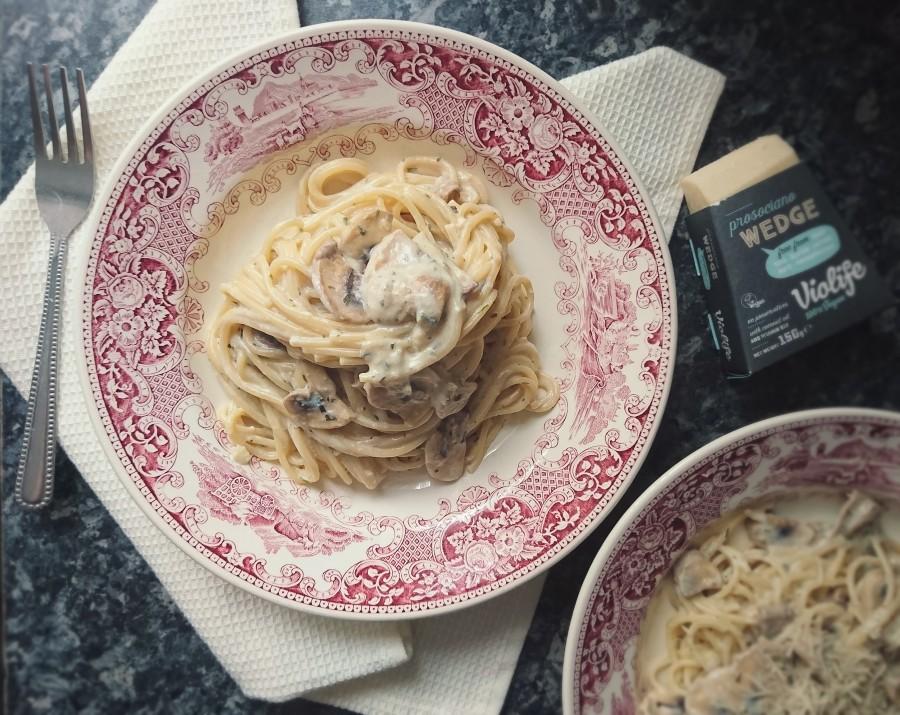 Creamy Mushroom Carbonara