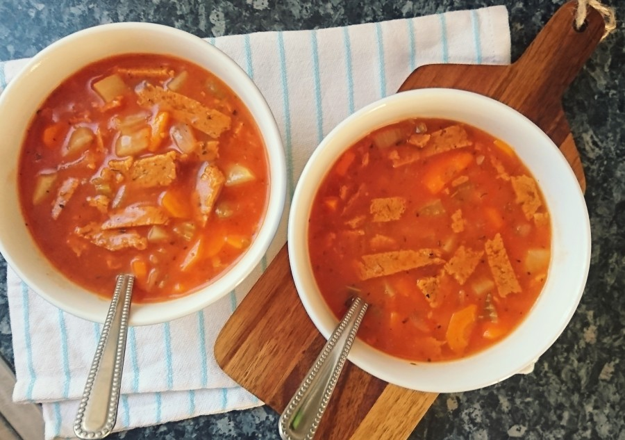 "Beefless ""Beef"" & Tomato Stew"