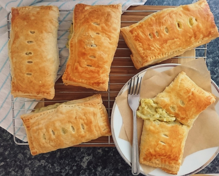 Vegan Cheese & Onion Pasties