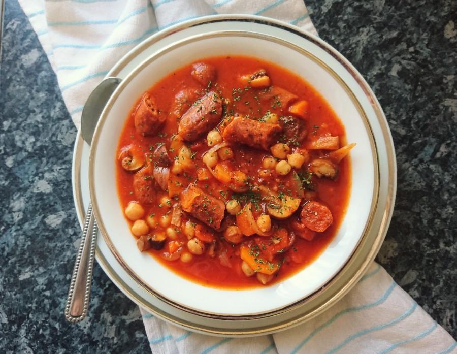 Vegan Chorizo & ChickpeaStew
