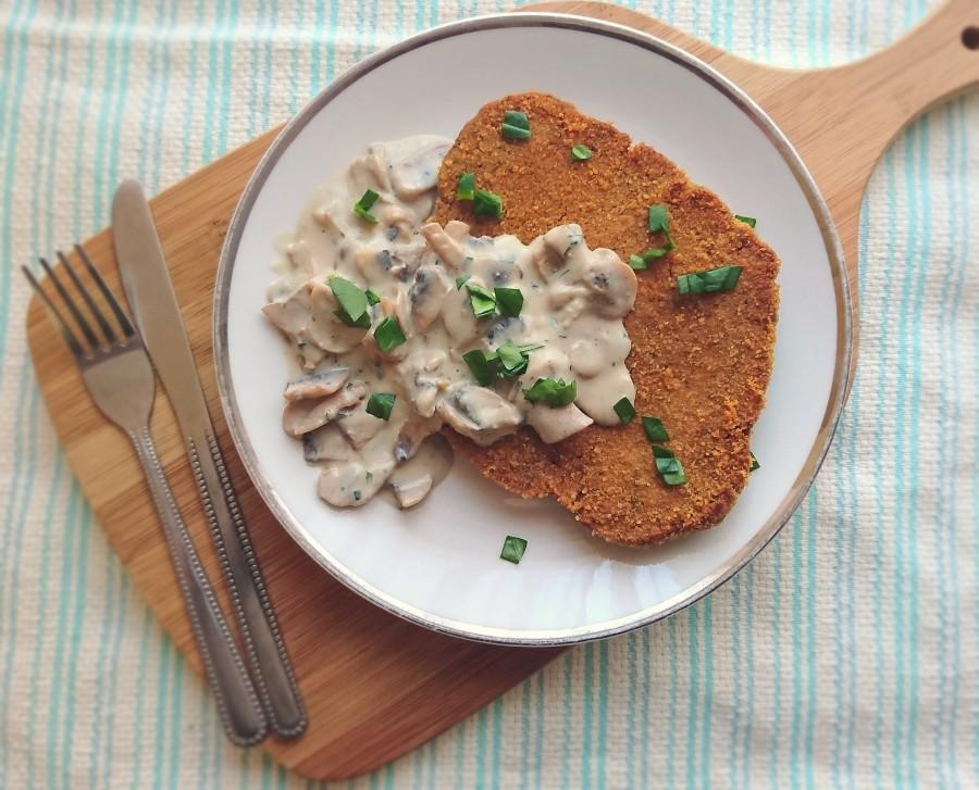 Vegan Schnitzel – With a Creamy MushroomSauce