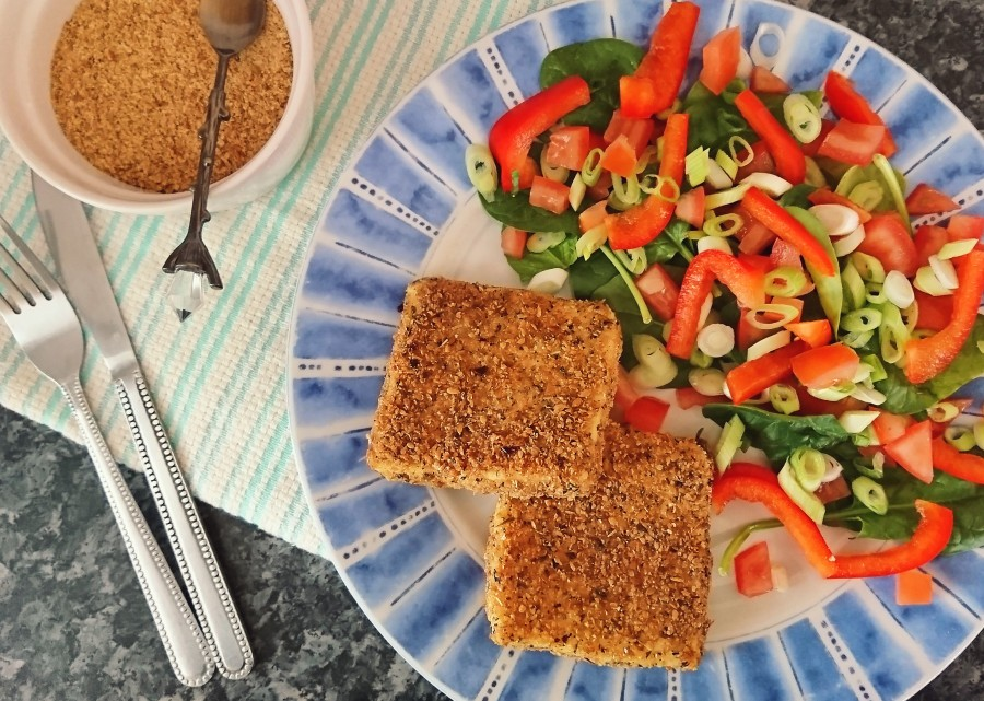 Herby Flaxseed Fried Tofu