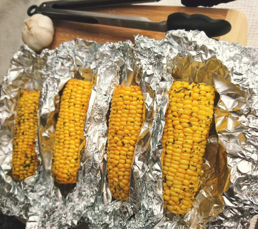 Garlic & Parsley Buttered Corn
