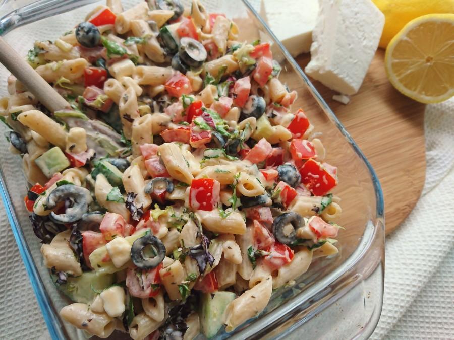 Tomato, Olive & Feta PastaSalad