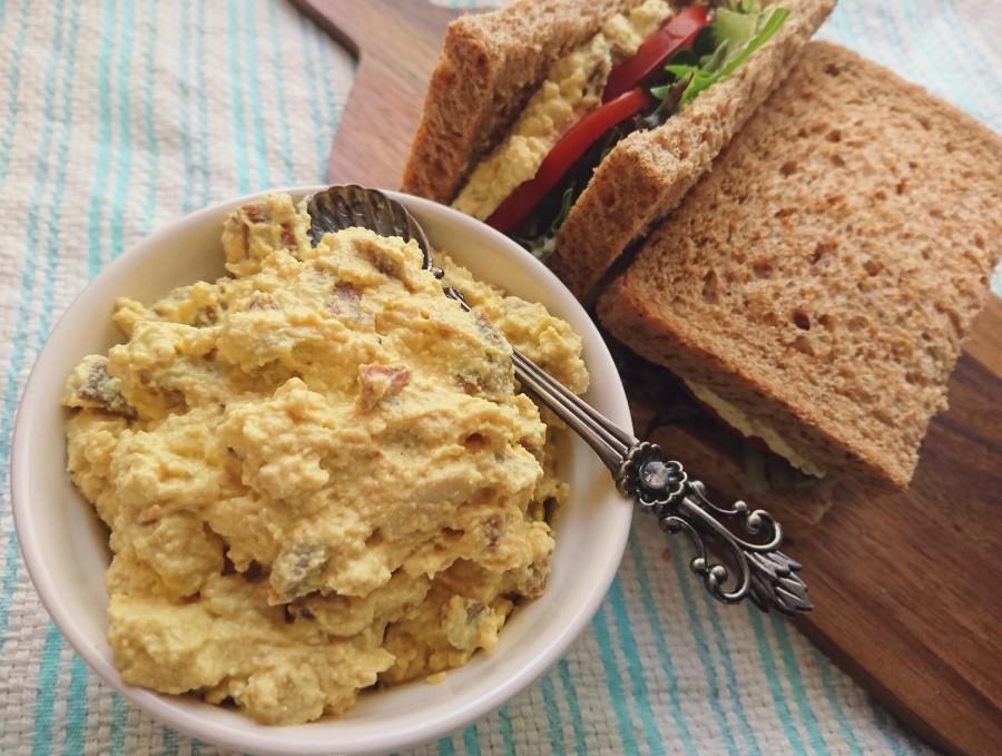 Vegan Tofu Egg and Bacon SandwichFiller