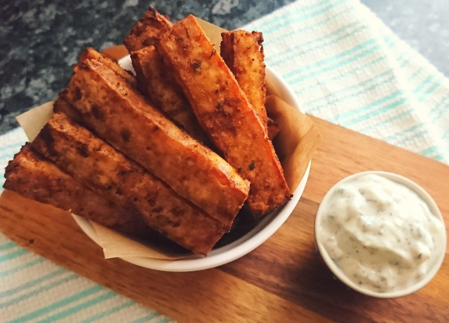 Baked Tofu Chips/Fries