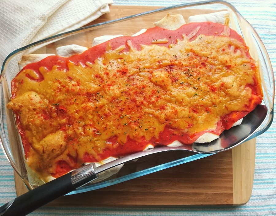 Vegan Chilli Enchiladas