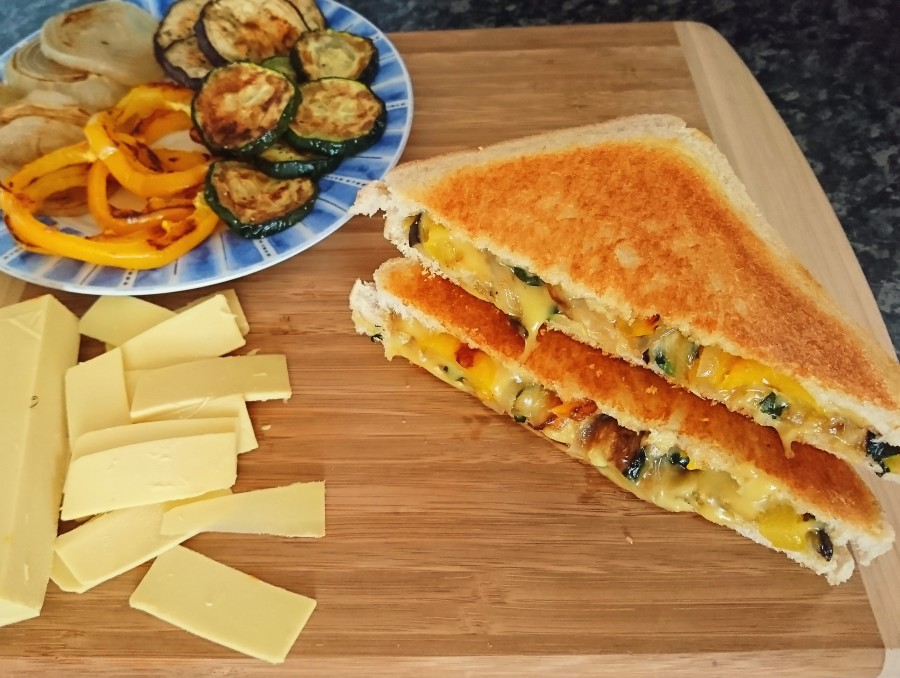 Roast Vegetable & Cheese Toastie