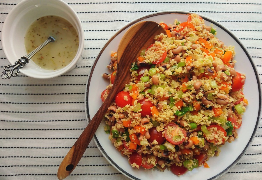 Black Eyed Bean Couscous Salad