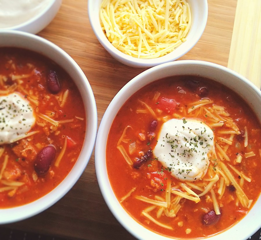 Chilli Soup with Homemade SourCream