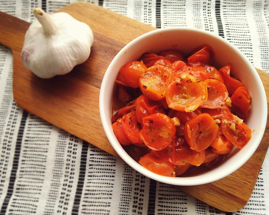 Garlic & Basil Roasted CherryTomatoes