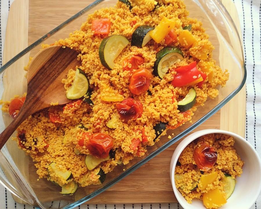 Roasted Vegetable SpicedCouscous