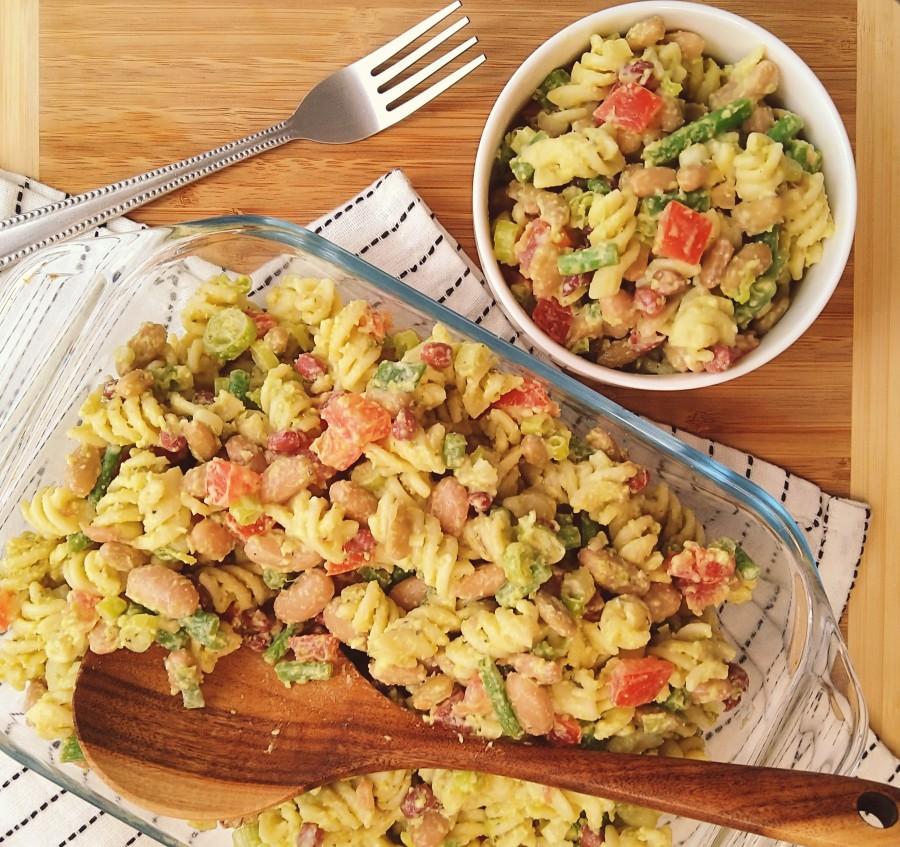 Pasta Salad with Beans & PeaPesto